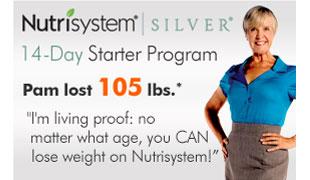 Nutrisystem Silver. 14-Day Starter Program. Pam lost 105 lbs.*