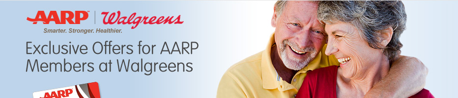 Exclusive Offers for AARP Members at Walgreens. Show your AARP membership card at time of purchase to receive special offers in store at Walgreens.
