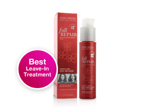 Best Leave-in Treatment. John Frieda Full Repair Perfect Ends Deep Infusion. The star ingredient, Inca Inchi oil, absorbs directly into hair to start immediately repairing damage. Shop now.