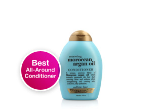 Best All-Around Conditioner. Organix Renewing Moroccan Argan Oil Conditioner. Hydrating and volumizing, this Moroccan argan oil conditioner protects against UV damage and gives hair high shine. Shop now.