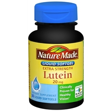 Extra Strength Lutein 20 mg, Softgels
