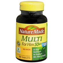 Multi for Him 50+ Vitamin/Mineral, Tablets