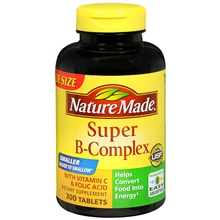 Super Vitamin B-Complex With Vitamin C and Folic Acid, Tablets