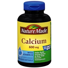 Calcium with Vitamin D 600 mg, Liquid Softgels