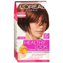 Healthy Look Creme Gloss Hair Color, Spiced Truffle (Chestnut Brown)