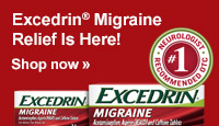 Exedrin(R) Migraine Relief is Here! Shop now.
