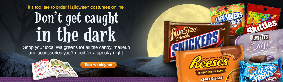 Shop Walgreens for everything you'll need for a spooky night. See weekly ad.