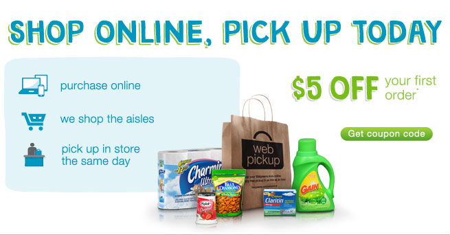 Shop Online, Pick up Today. $5 OFF your first order.* Get coupon code.