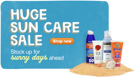 Huge Sun Care Sale. Shop now.