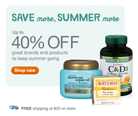 Up to 40% OFF great brands and products. Free shipping at $25 or more. Shop now.