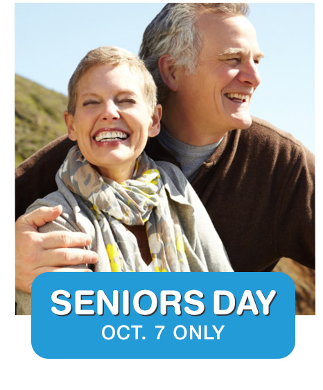 SENIORS DAY OCT. 7 ONLY
