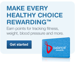 Earn points for tracking fitness, weight, blood pressure and more. Get started.
