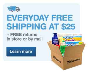 Everyday Free Shipping at $25 + FREE returns in store or by mail. Learn more.