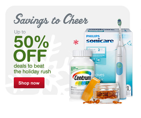 Savings to Cheer. Up to 50% OFF deals to beat the holiday rush. Shop now.