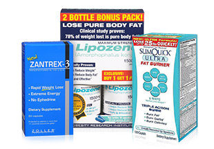 Diet Aids from Lipozene, Zantrex-3, SlimQuick, and more