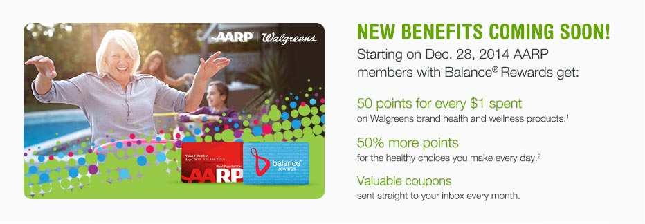 New Benefits Starting on Dec. 28, 2014! AARP members with Balance(R) Rewards get points and valuable coupons.