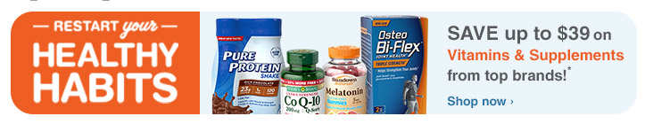 Save up to $39 on Vitamins & Supplements
