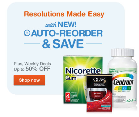 Auto-Reorder & save up to 50% off weekly deals at Walgreens.com