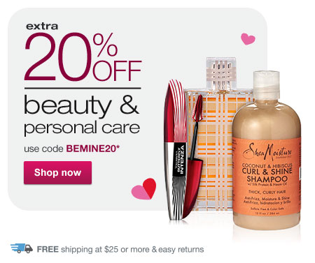 Extra 20% OFF Beauty & Personal Care w/code BEMINE20.* Shop now.